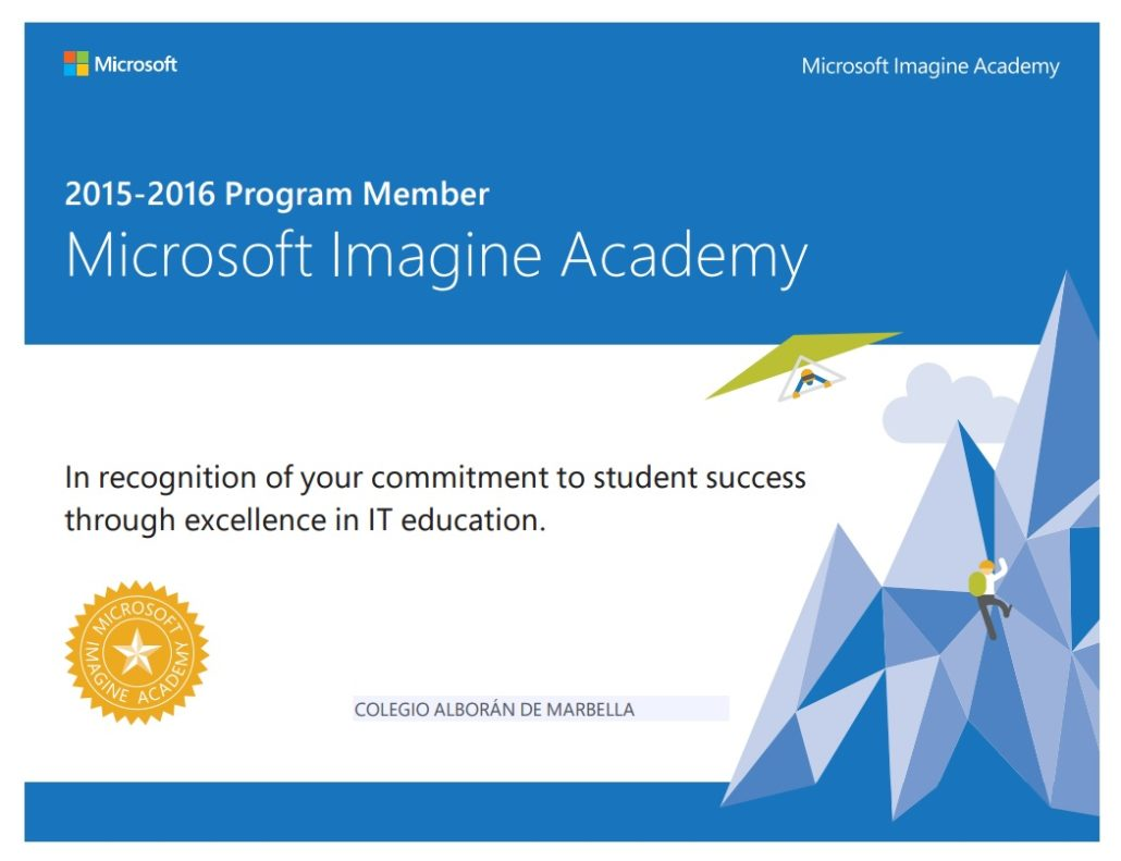 Microsoft Imagine Academy 2015-2016