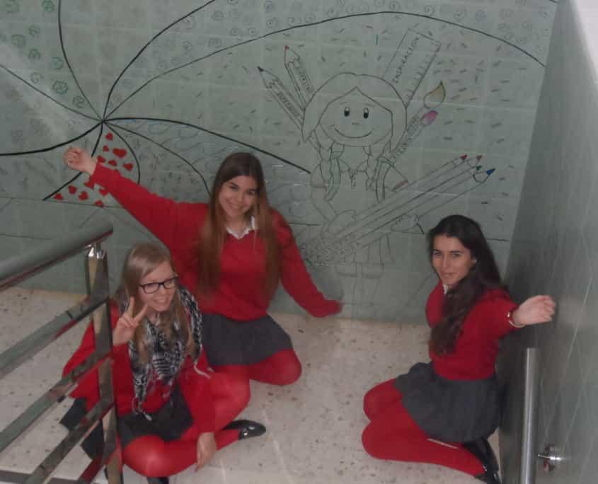 decorando el colegio