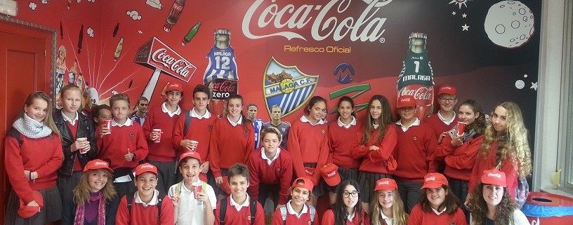 Colegio Alborán visita la fábrica de CocaCola